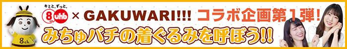 UHB ✕ GAKUWARI!!!コラボ企画第1弾! みちゅバチの着ぐるみを呼ぼう!!